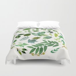 Circle of Leaves Duvet Cover