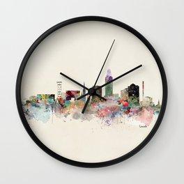 lincoln nebraska skyline Wall Clock