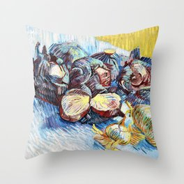 12,000pixel-500dpi - Vincent van Gogh -  Red Cabbages and Onions - Digital Remastered Edition Throw Pillow