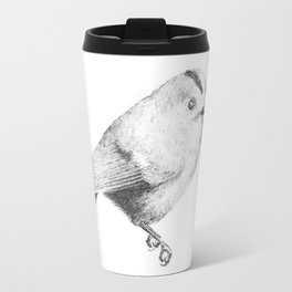 Goldcrest (Regulus regulus) - grey Travel Mug