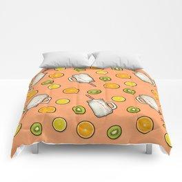 Summer fruit #society6 Comforters