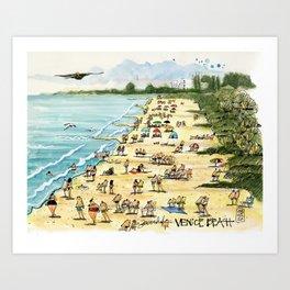 Venice Beach, Florida Art Print