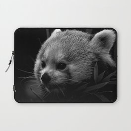 Awesome B&W red Panda Laptop Sleeve