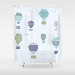 Hot Air Shower Curtain