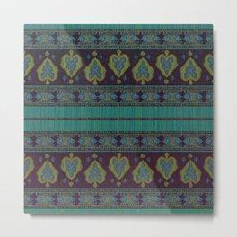 Persian Carpet Teal Metal Print