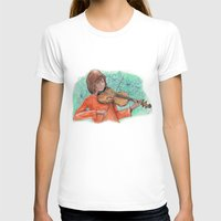 violin T-shirts featuring Violin by besign79