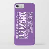 swan queen iPhone & iPod Cases featuring Swan Queen Nicknames - Purple (OUAT) by CLM Design