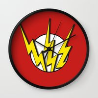 the flash Wall Clocks featuring Flash by Msimioni
