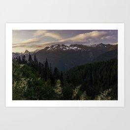Never Stop Exploring - Cascade Sunset Art Print