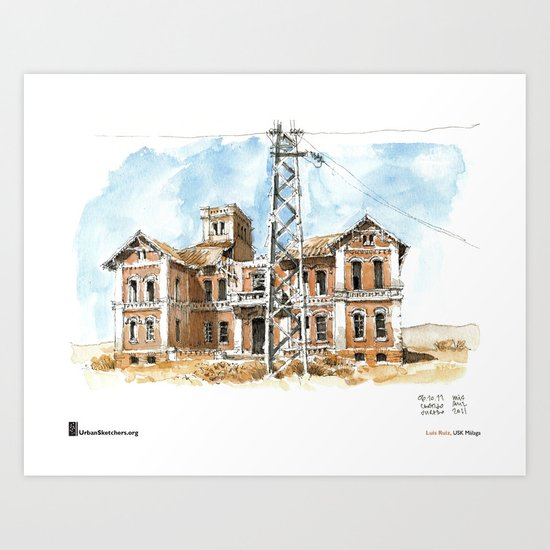 "Luis Ruiz, ""Málaga, Ruined"" Art Print"