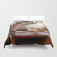 silver Duvet Covers featuring Silver by Lia Bernini