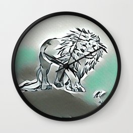 Dark Lion Wall Clock