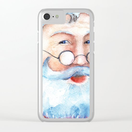 Santa Claus #2 Clear iPhone Case