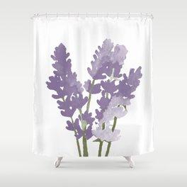 Watercolor Lavender Shower Curtain