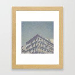 New York City in Blue II Framed Art Print