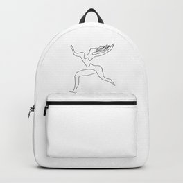One line Picasso variant (with hair) Backpack