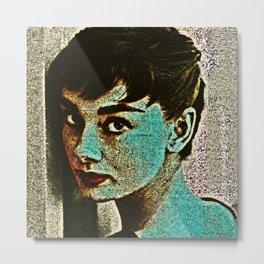 HOLLY (Audrey Hepburn2) Metal Print
