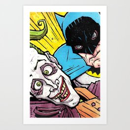 Detective vs. the Clown Art Print
