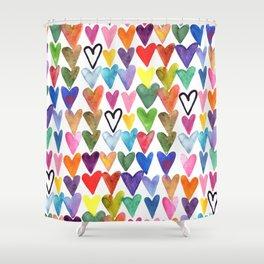 Hearts No. 1 Shower Curtain