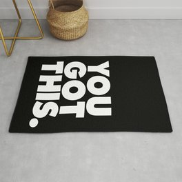 You Got This black and white typography inspirational motivational home wall bedroom decor Rug
