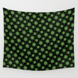 Glowing green mandala Wall Tapestry