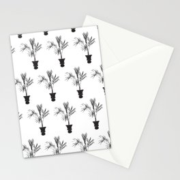 Palm Tree Silhouette Tropical Print in Black and White Stationery Cards