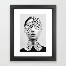 Woman Butterfly Framed Art Print