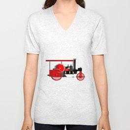 Vintage Steam Roller Unisex V-Neck