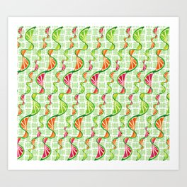 twisted citruses Art Print