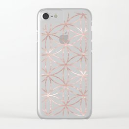 Mandala Rose Gold Flower of Life Clear iPhone Case