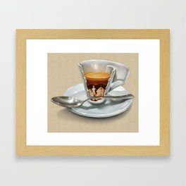 Italian coffee 2.0 Framed Art Print