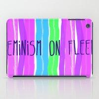 feminism iPad Cases featuring Feminism on Fleek by RCM Prints