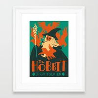 hobbit Framed Art Prints featuring The Hobbit by Greg Wright