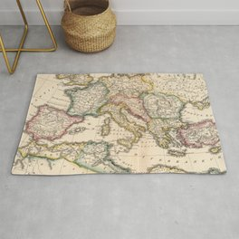 Vintage Map of The Roman Empire (1815) Rug