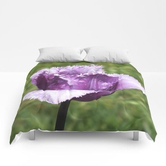 Purple Fringed Tulip Comforters