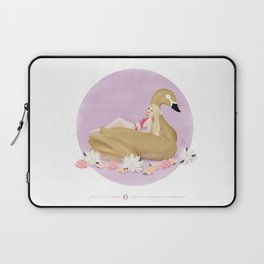 Summer Pool Party - Gold Swan Float F Laptop Sleeve
