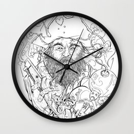Blackbeard Wall Clock