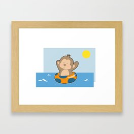 Summer Monkey Framed Art Print