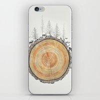 tree rings iPhone & iPod Skins featuring Tree Rings by dreamshade