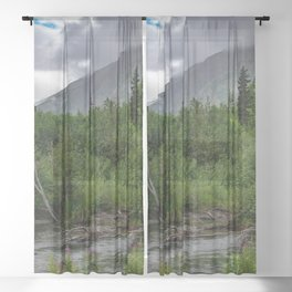 Alaskan Summer Rain Clouds, Kenai_Peninsula Sheer Curtain