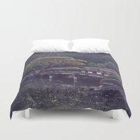 bridge Duvet Covers featuring Bridge by Sushibird