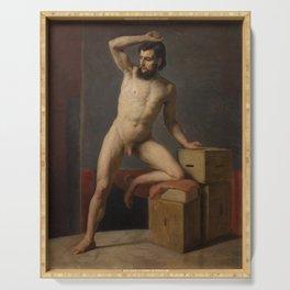 Gustav Klimt - Male Nude Serving Tray