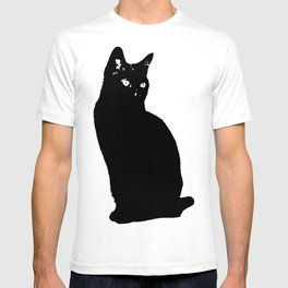 Black Shadow Cat T-shirt