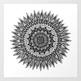 Zentangle - Sunflower Art Print