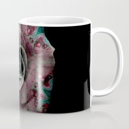 Pink & Turquoise Marbled Rose - Abstract Floral Photography by Fluid Nature Coffee Mug