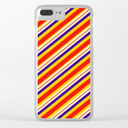 Team Colors,,,red,yellow and blue stripes Clear iPhone Case