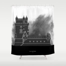 HexArchi - Portugal, Lisboa, Torre de Belém Shower Curtain