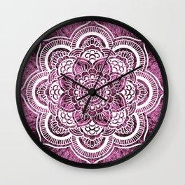 Mandala Mauve Colorburst Wall Clock