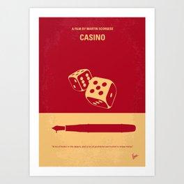 No348 My Casino minimal movie poster Art Print