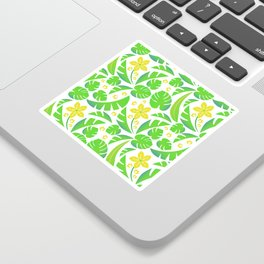 PERROQUET FLOWERS Sticker